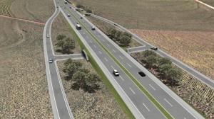 Imagem da simulação do projeto para duplicação da PR 323
